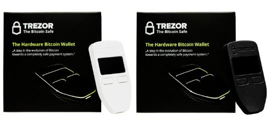 TREZOR(ホワイト&ブラック 2色セット)