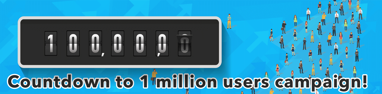 Countdown to 1 million users campaign!